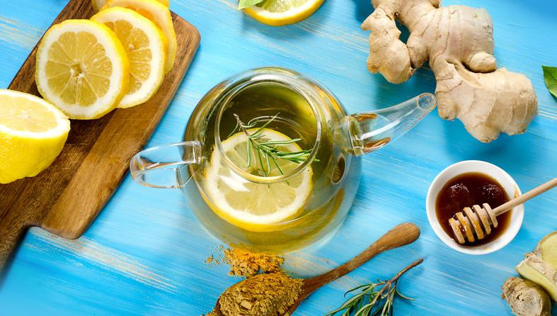 فوائد و اضرار الشاي الاخضر والزنجبيل على الريق